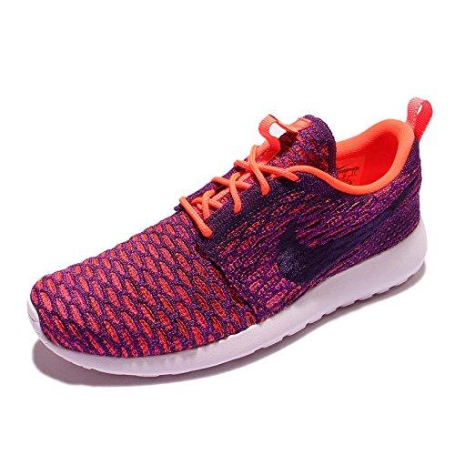 Nike - Roshe One Flyknit, Scarpe da ginnastica Donna Viola (Morado (Ttl Crimson / Grnd Prpl-Vvd Prpl))