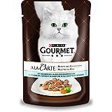Gourmet a la Carte Katzenfutter Hochseefisch an Reis-Gemüsekomposition, 24er Pack (24 x 85 g) Beutel