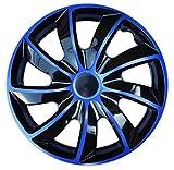 Wheel Trims Set of 4 Quad Bicolor Blue covers (16