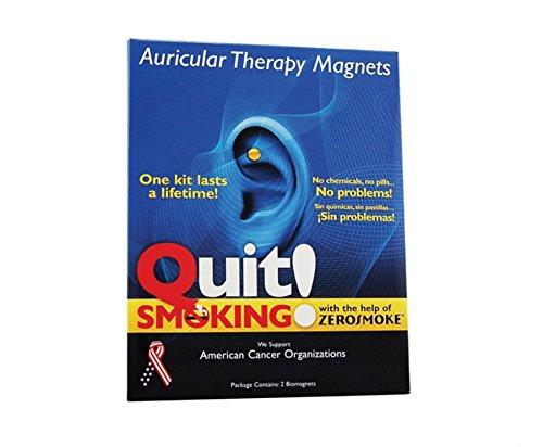 ENDE RAUCHEN MIT ZEROSMOKE-GESUNDHEITS-MAGNETEN - Ohr-Therapie-Magnet-Ohrring - Ohr Therapie