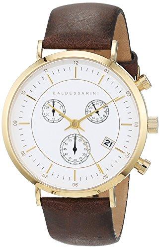Baldessarini Herren - Armbanduhr Edelstahl Chronograph Quarz Lederband 5 bar