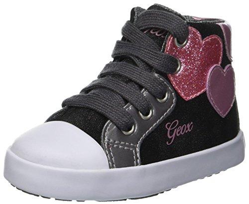 Geox Baby Mädchen B Kilwi Girl C Sneaker Grau (Anthracite C9004), 24 EU