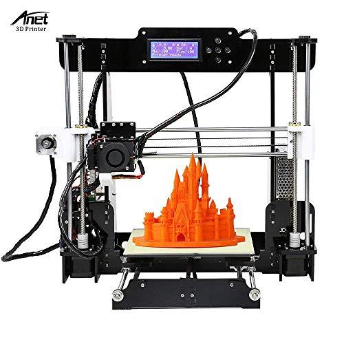 Anet A8 DIY 3D Printer Kits Reprap i3 Upgrade MK8 Extrusora 220 * 220 * 240mm Tamaño de impresión con tarjeta SD de 8GB Soporte ABS / PLA / HIPS / PP / Filamento de madera