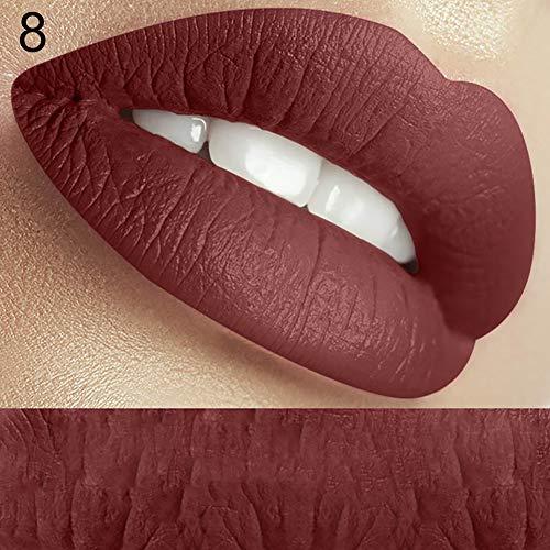 Lucidalabbra Volumizzante clifcragrocl,Fashion Long Lasting Matt Lip Gloss liquido rossetto Donne trucco bellezza cosmetici - 8#