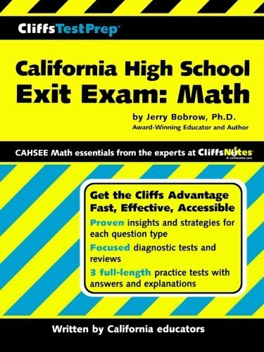 CliffsTestPrep California High School Exit Exam-Mathematics 1st edition by Bobrow, Jerry (2004) Paperback