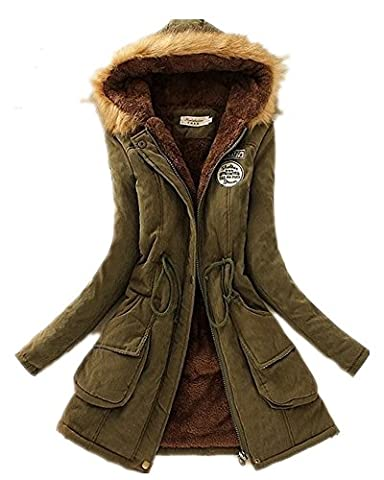 Babyonline Winterparka Damen Weinachtsgeschenke Winterjacke Fellkapuze Jacken Mit Kapuze Damen Parka