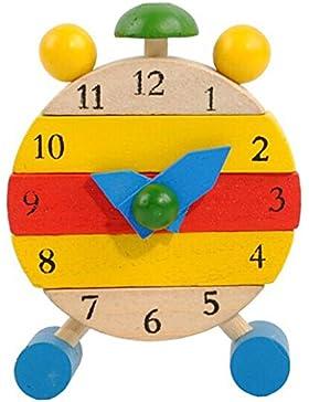 [Patrocinado]WINWINTOM Los Juguetes Hechos A Mano Del Reloj De Madera Para Los NiñOs Aprenden Los Juguetes Educativos Del Reloj...