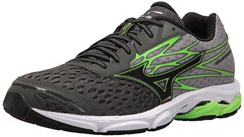 Mizuno Men's Wave Catalyst 2 Running Shoe, Charcoal/Green Flash, 9. 5 D US