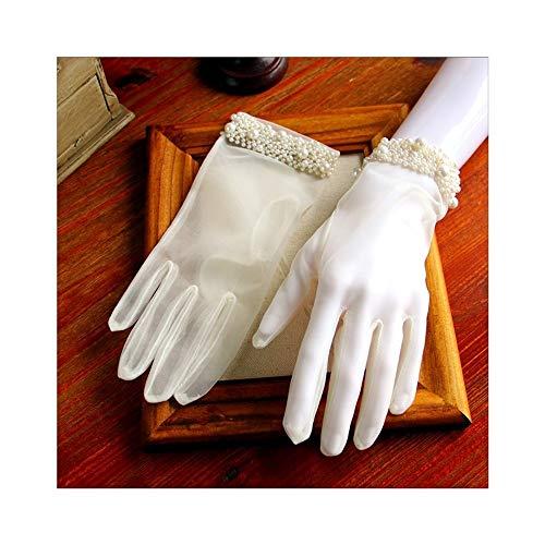 Shengjuanfeng Braut Kurze Handschuhe Hochzeit Handschuhe Tea Party Tanzen Handschuhe (Color : Beige)