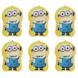 Aarvi Minions Character Metal Piggy Bank, Money Coin Saving Box with Key and Lock for Kids (Combo of 6 Pack)
