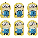 Asera 6 Pcs Minion Metal Body Money Bank Piggy Bank Coin Bank With Key And Lock For Kids - Birthday Return Gifts Minion Theme