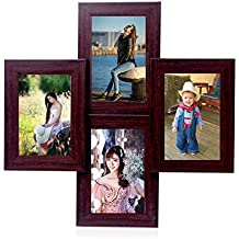 WENS 4-Picture MDF Photo Frame (20 inch x 16 inch, Brown)