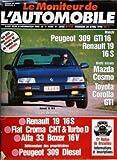 MONITEUR DE L'AUTOMOBILE (LE) N? 949 du 20-04-1990 RENAULT 19 16S - FIAT CROMA CHT ET TURBO D - ALFA 33 BOXER 16V - PEUGEOT 309 DIESEL - 11EME RALLYE DE BRUXELLES - PEUGEOT 309 GTI 16 - RENAULT 19 16S - MAZDA COSMO - TOYOTA COROLLA GT...