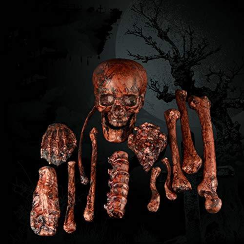 YKQ WS Halloween-Dekoration Im Freien beängstigend Bloody EIN Haufen von Skeletten aus Kunststoff (Im Freien Aufblasbare Halloween-dekoration)