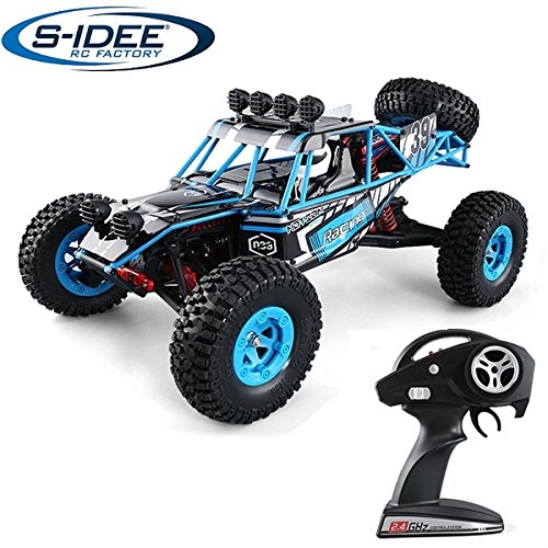 s-idee® 18141 S39 RC Auto Buggy Monstertruck 1:12 mit 2,4 GHz ca. 50 km/h schnell, wendig, voll digital proportional 4x4 Allrad WL Toys ferngesteuertes Buggy Racing RC Auto