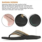 Sessom&Co Mens Orthotic Sandals with Great Arch Support Stylish Beach Flip Flops Sandals for Plantar Fasciitis