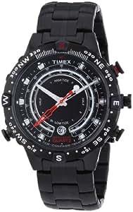 Timex Herren-Armbanduhr XL Adventure Series Tide-Temp-Compass Chronograph Quarz Edelstahl beschichtet T2P140