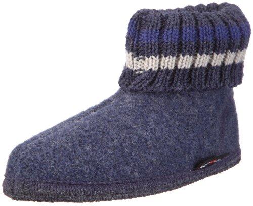 Haflinger Hüttenschuh Paul, Unisex-Erwachsene, Blau (Jeans 72), Größe 41