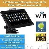 Elebest 17,8cm 7 Zoll Android,GPS,Navigationsgerät,Navigation,WiFi,Tablet PC,Internet,Wohnmobil,LKW,PKW,24GB Speicher,HD Display,AV-IN,Radarwarner,Kostenlose Kartenupdate