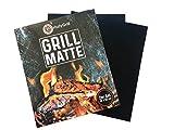 Premium BBQ Grillmatten (2er Set) 40x33 cm - Antihaft, Wiederverwendbar, Hitzebeständig bis 500°F, Zuschneidbar, Spülmaschinenfest - Perfekt für Kohle-, Gas- und Elektro- Grills & Backofen.