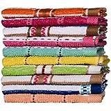 Casa Basics–10Pack toallas de cara/gamuza de lavado de en varios colores y diseños