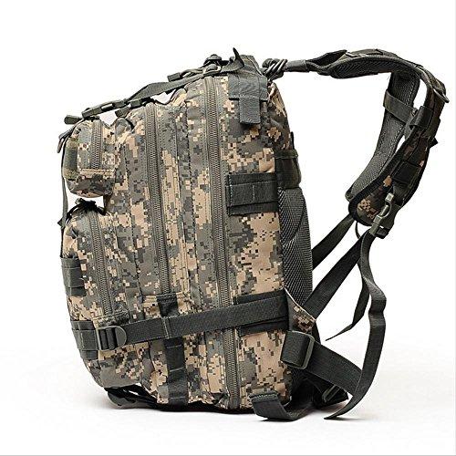 Outdoor a tre livelli tattico zaino militare Fans Assault pacchetto equitazione pacchetto tattico Camouflage Borsa a tracolla , camouflage b camouflage b