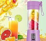 ShopAIS Multifunction 380ML Mini USB Electric Fruit Juicer CUP Rechargeable Smoothie Maker Blender