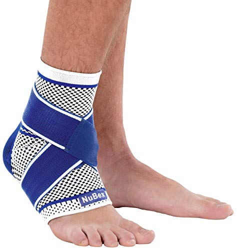 Nutrics | Aktiv Fußbandage | Sprunggelenkbandage | Damen und Herren | Funktionspolster und Gurtsystem (XL (Größe))