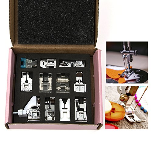 11 Pcs Domestic Sewing Machine Presser Foot Feet For most of household multi-functional sewing machines New Home