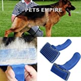 PETS EMPIRE Dog Cat Hair Quick Clean Shedding Tool Brush Comb Pet Grooming Rakes (Big Size)