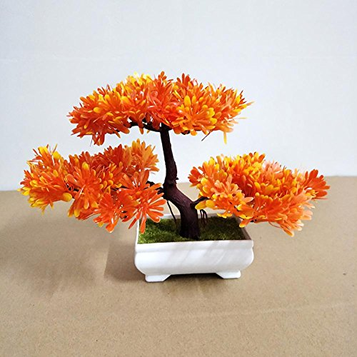 LWBAN-plant Plante Artificielle Bonsaï cèdre Artificiel en Pot, Arbre Artificiel/Bonsai déco, Hauteur 20 cm, 3