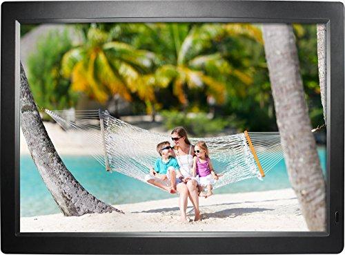 """Rollei Gauguin DPF-18.5\"""" Full HD - Digitaler Multimedia Bilderrahmen mit 18,5\"""" (47 cm) TFT-LED Panel, Bild-, Video-, Musik-, Kalender- und Uhr-Funktion, inkl. Fernbedienung - Schwarz"""
