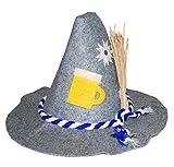 Karneval-Klamotten Oktoberfest Hut Bayern Hut Bayern Tirolerhut Seppelhut Herren Bierglas mit Kördel Oktoberfest Karneval