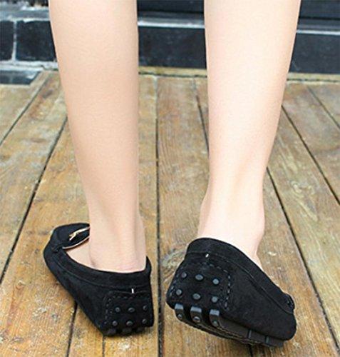 La signora Primavera Peas scarpe da donna scarpe scarpe casual rotonda scarpe basse Black