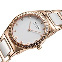 Bering Time Damen-Armbanduhr XS Ceramic Analog Quarz verschiedene Materialien 32430-761