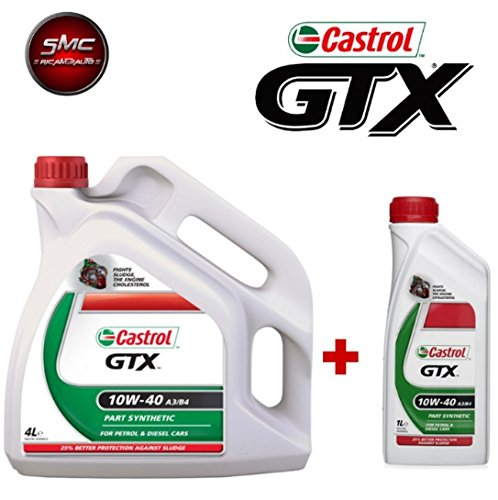 Original Motoröl Castrol GTX 10 W-40 A3/B4 LT. 5 (5 Liter) Part Synthetic