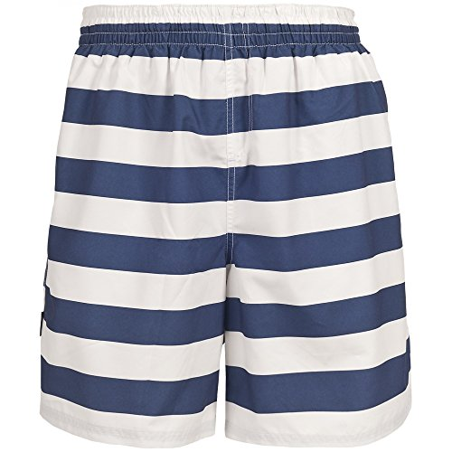 Trespass Herren Adrift Bade-Shorts, gestreift Blau Gestreift