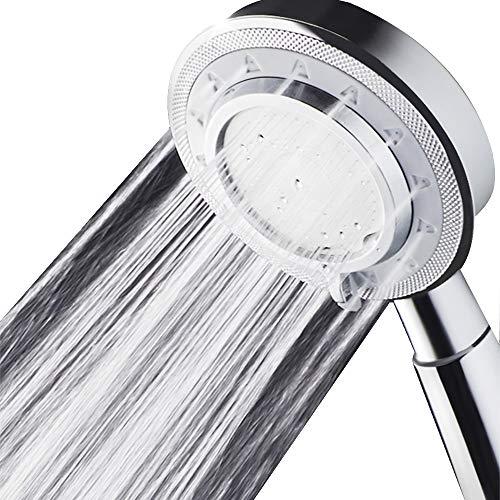 Cabezal de ducha, ducha de baño universal de alta presión de ahorro de agua Función de 3 modos de pulverización Cabezal de ducha de mano para piel seca y cabello de Nosame