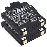 CELLONIC 2X Batterie Compatible avec Sennheiser MM 400 X 450 X 500 X, 550 X/PX 210 BT, 360 BT/PXC 310, 360 BT/PCX 360 BT - 0121147748, BA 370 PX, BA370 (270mAh) Accu de Rechange Remplacement