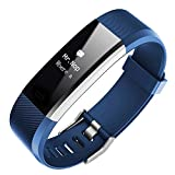 Colorful Colorful Fitness Tracker,Smart Armband Smart Fitness Armband Schlaf Monitor Anruf Nachricht Erinnerung Herzfrequenz Wasserdicht (Blau)