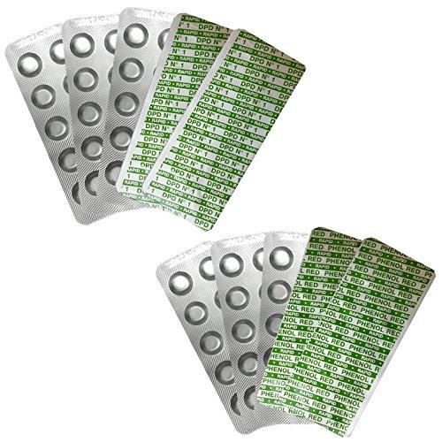 100 Pool Testtabletten von Reko Freizeitbedarf für die Chlor und pH-Wert Bestimmung - je 2 x 50 Stück