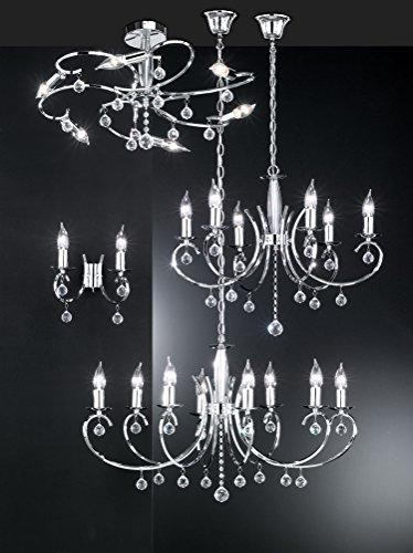 Honsel Sala - Lámpara de pared, color cromo
