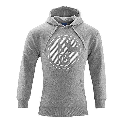 FC Schalke 04 FC Gelsenkirchen-Schalke 04 eV Fanartikel Sweat Shirt Classic Grey Kapuzensweatshirt Kapuze Pullover Größe S