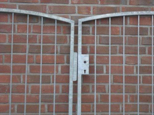 Hochwertiges, 2-flügliges Bogentor / Verzinkt / Einbau-Breite 400cm / Einbau-Höhe 150cm / Inklusive Pfosten / Einfahrtstor Gartentor Hoftor