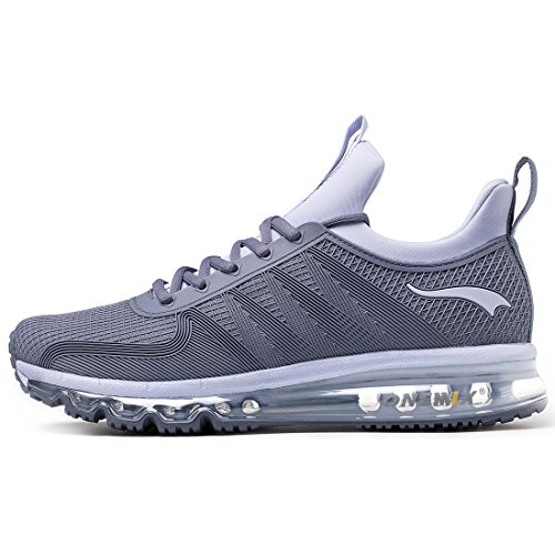 ONEMIX Fashion Sneakers Herren Laufschuhe Leichte Atmungsaktive Laufschuhe Air Luftkissen Damen Schuh Herren - Grau 43