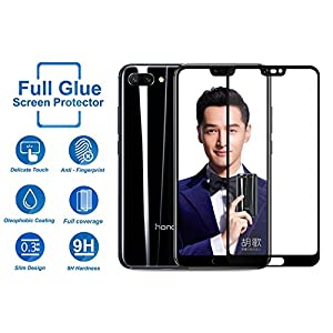 Huawei P20 Pro Screen Guard - Kohinshitsu Premium Edge to Edge Full Glue Tempered Glass Screen Protector for Huawei P20 Pro - Black Color