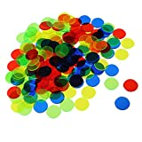 MagiDeal 300 Pcs Plastic Poker Chips Bingo Board Games Markers Tokens Kids Counting Toy Family Club Party Supplies