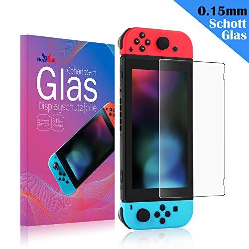 Keten Nintendo Switch Schutzfolie [1 Packung] 0,15mm/9H hochwertiges Gehärtetes Glas Schutzfolie für Nintendo Switch (Hergestellt aus Schott Gehärtetes Glas), nicht für DS