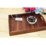 Onlineshoppee Sheesham Wood Handcrafted Tray