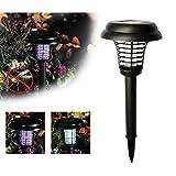 Lampe Solaire Anti Moustique, Anti-Moustique Insecte Mouche Bug Moustique Lampe pour Intérieur Extérieur Maison Jardin Cour Patio Ba Zha Hei (Noir)